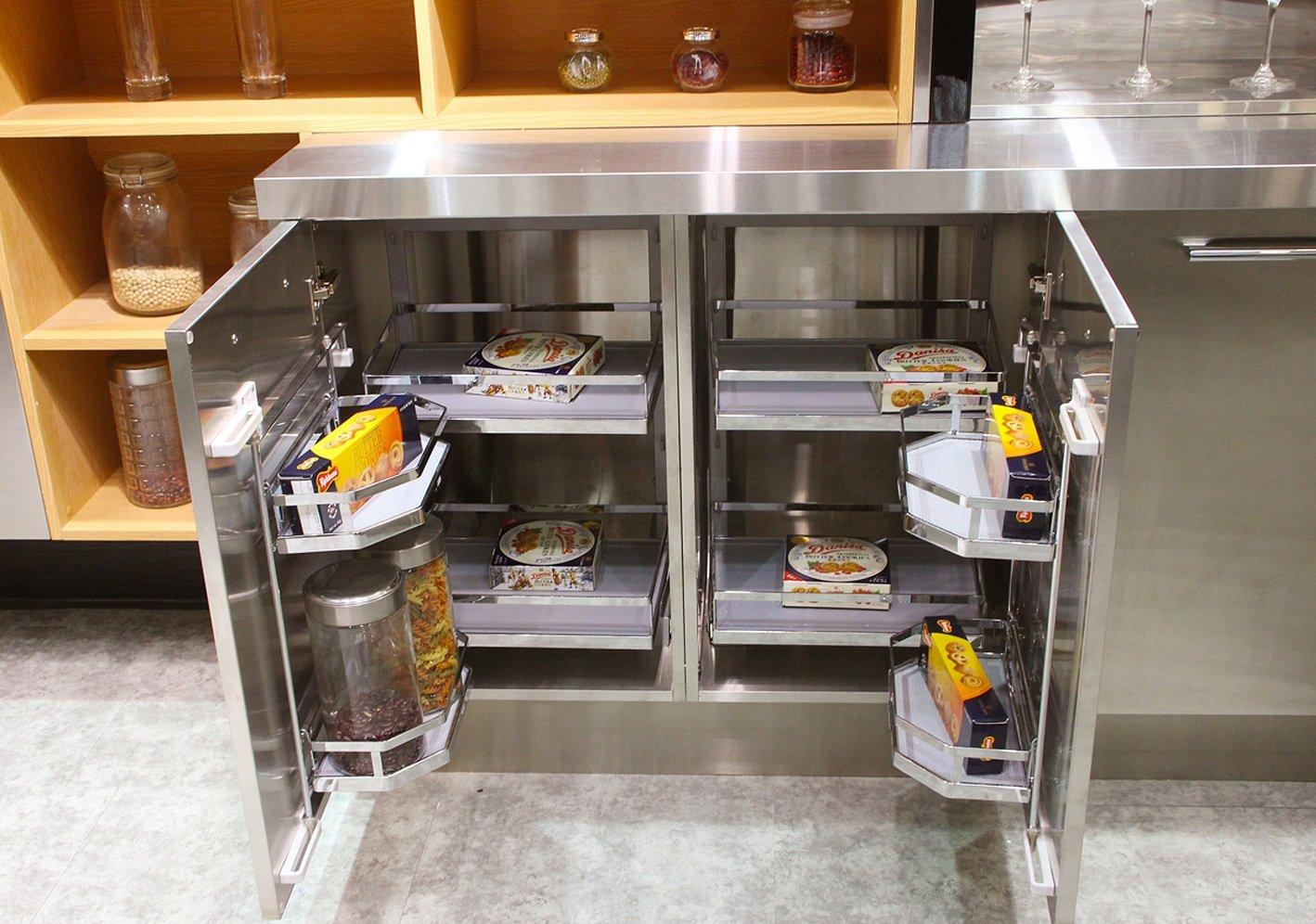 Z006 Caesr - Modern Style Stainless Steel Kitchen with Island